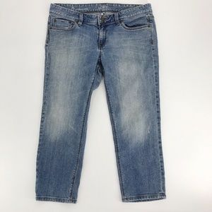 LOFT Modern Crop Skinny Jeans Distressed 8/29